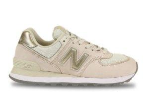 New Balance 574 Wit/Goud Dames