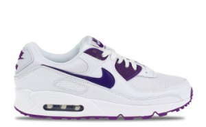 Nike Air Max 90 Wit/Paars Heren