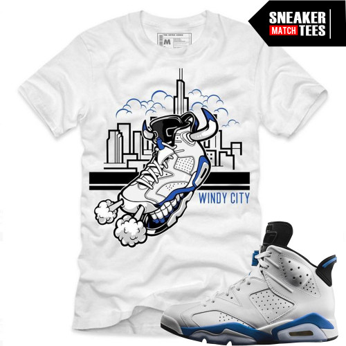 sale retailer 38d58 45adc Windy City Tee (Sport Blue 6s)