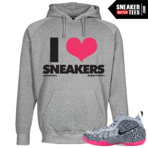 Hyper Pink Elephant Print Foamposites matching shirts clothing and streetwear crewneck sweaters Elephant foams Sneaker Match Tees