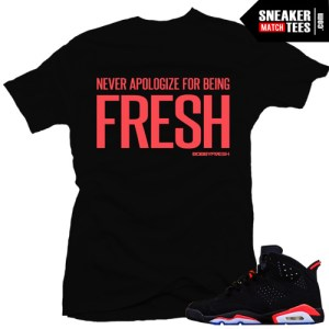 infrared 6s matching sneaker tees for Retro 6 Infrared Black