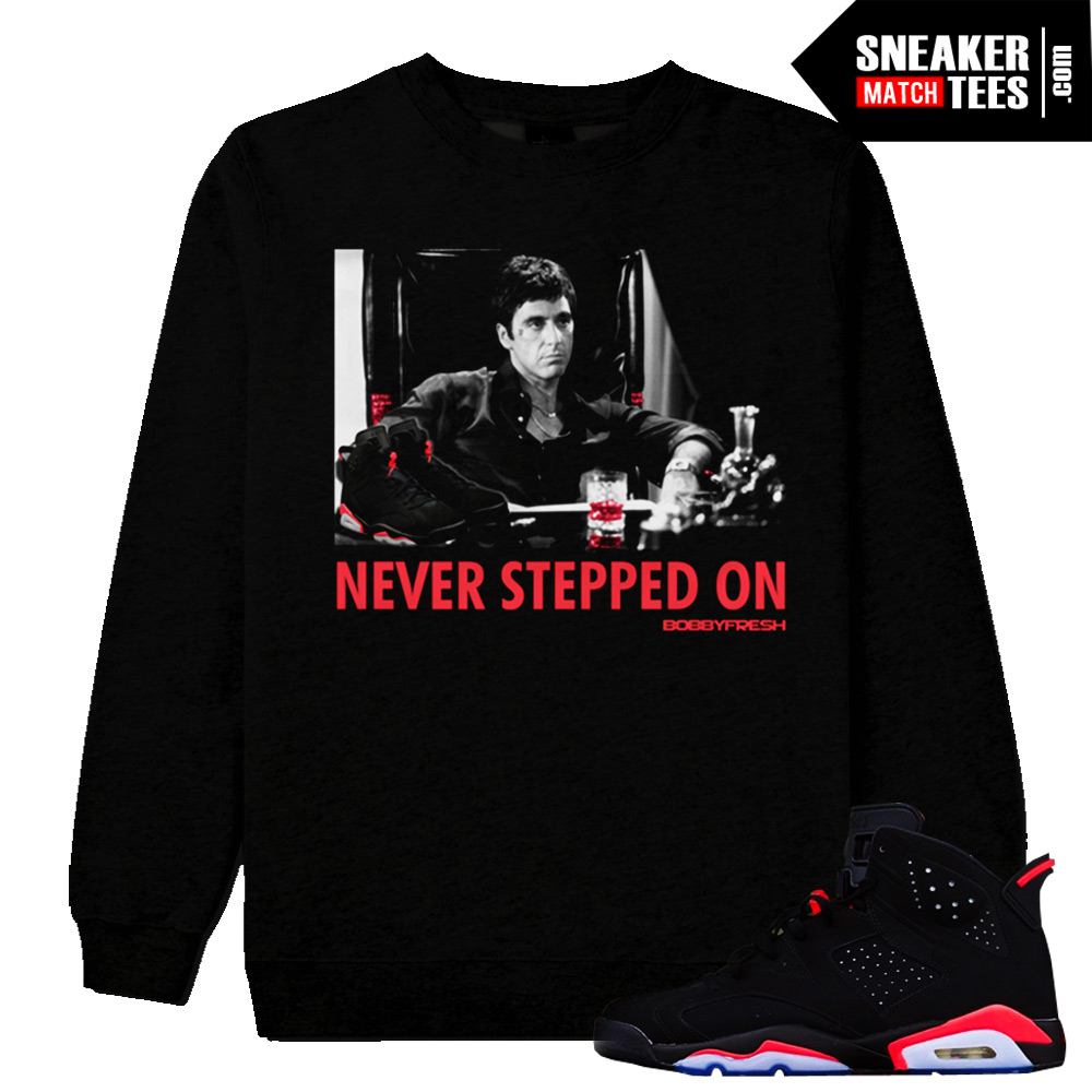 c0247bb31362d5 Infrared 6 Jordan Retro matching streetwear sneaker tees shirts hoodies and  crewnecks clothing