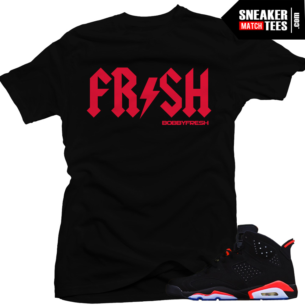 Streetwear Clothing Sneaker tees to match the Jordan Retro 6 infrared | Infrared 6s