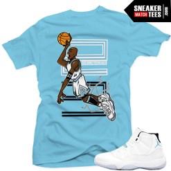 Legend Blue 11 shirts to match Jordan Retro 11 Legend Blue Sneaker Tee Streetwear Clothing