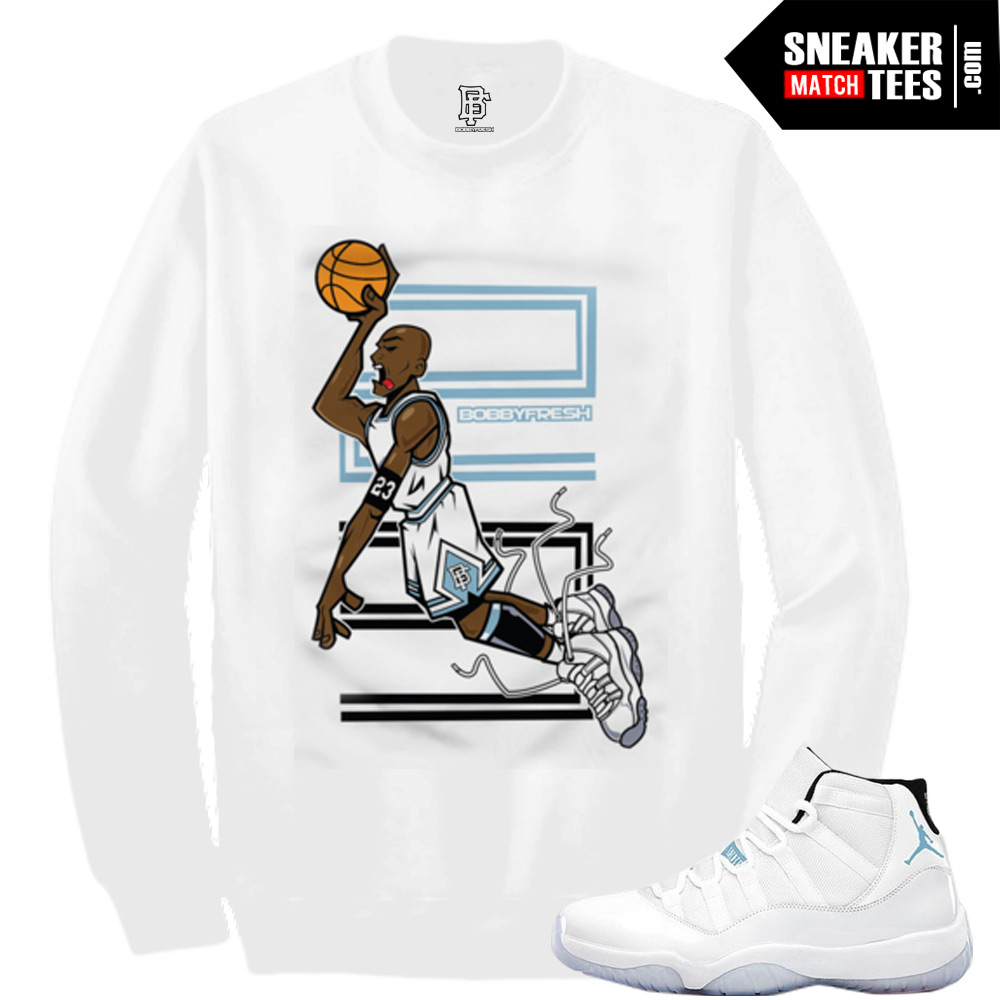 Legend Blue 11 shirts to match Jordan Retro 11 Legend Blue Sneaker Tee Streetwear Clothing