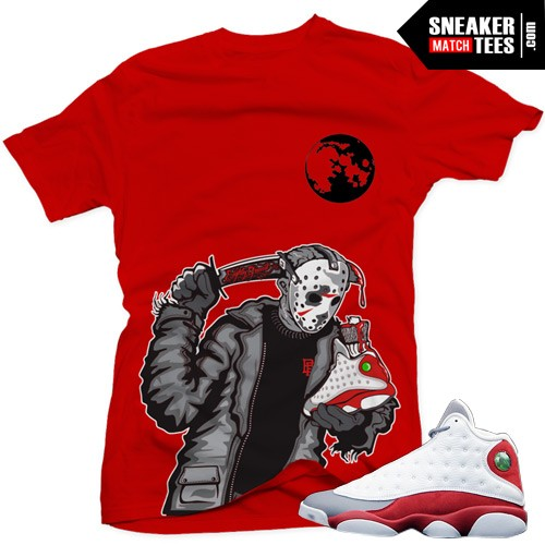 newest 5c13b e4332 Jordan 13 Grey Toe matching shirts | Friday the 13th Shirt