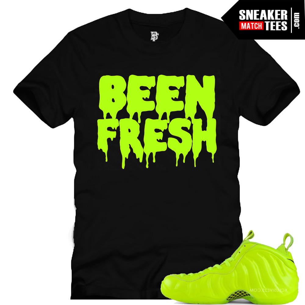 finest selection 4ef2c 06571 Volt Foamposite shirts |Been Fresh Sneaker Tee in Black