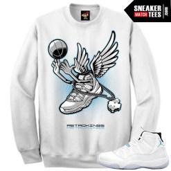 Clothing to match the Legend blue 11s sneaker tees crewnecks streetwear sweatshirts