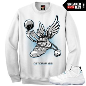 Clothing to match the Legend blue 11s sneaker tees crewnecks streetwear sweatshirts