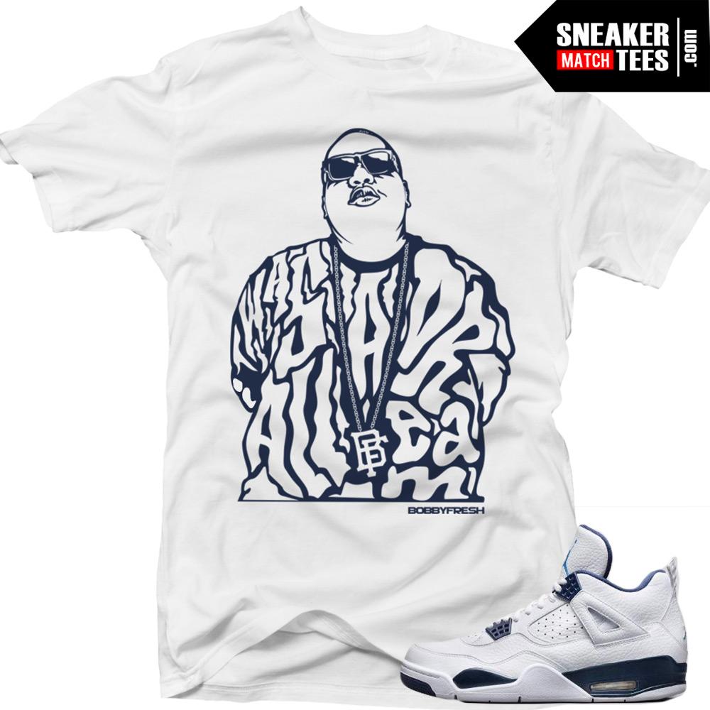 best website d28e6 6cd94 Columbia 4s Matching Sneaker Tees Shirts All a Dream Sneaker Tees Shirt  White