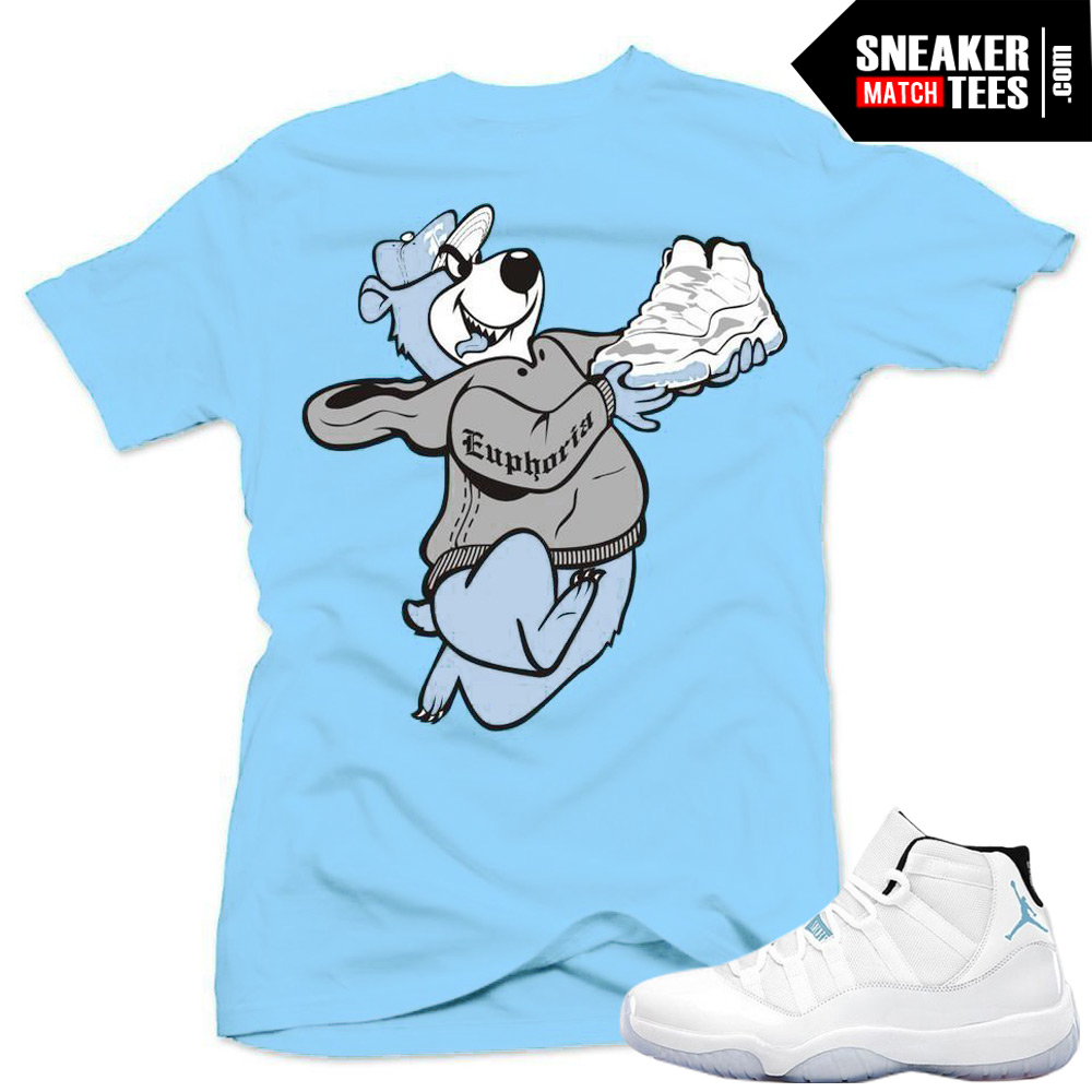 Legend Blue 11 matching sneaker tees shirts match jordan retro Legend Blue  11s fc3335e52