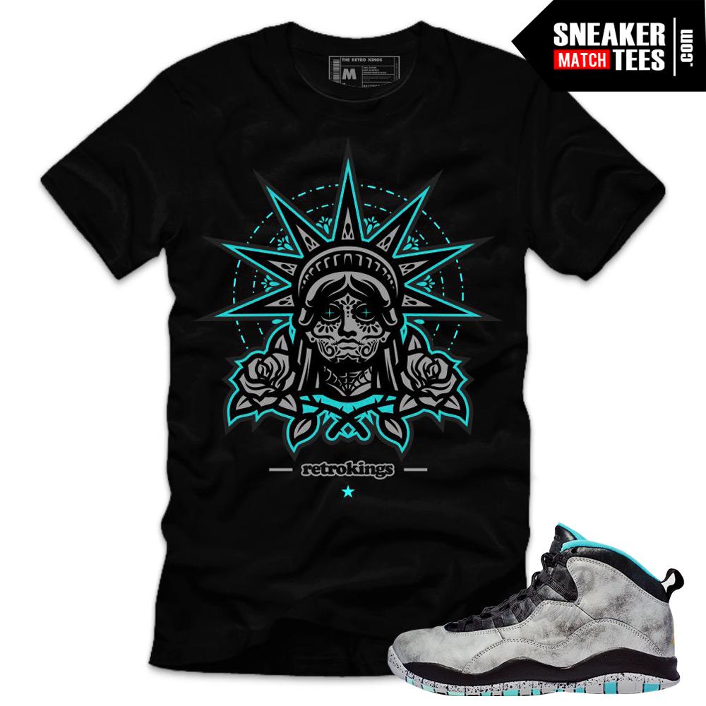ef417a56b23731 Lady Liberty 10s matching sneaker tees shirts
