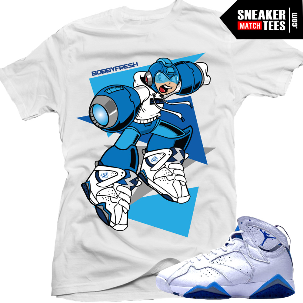 465cfdb5f92f6b Sneaker tees shirts to match the French Blue 7s Jordan Retros