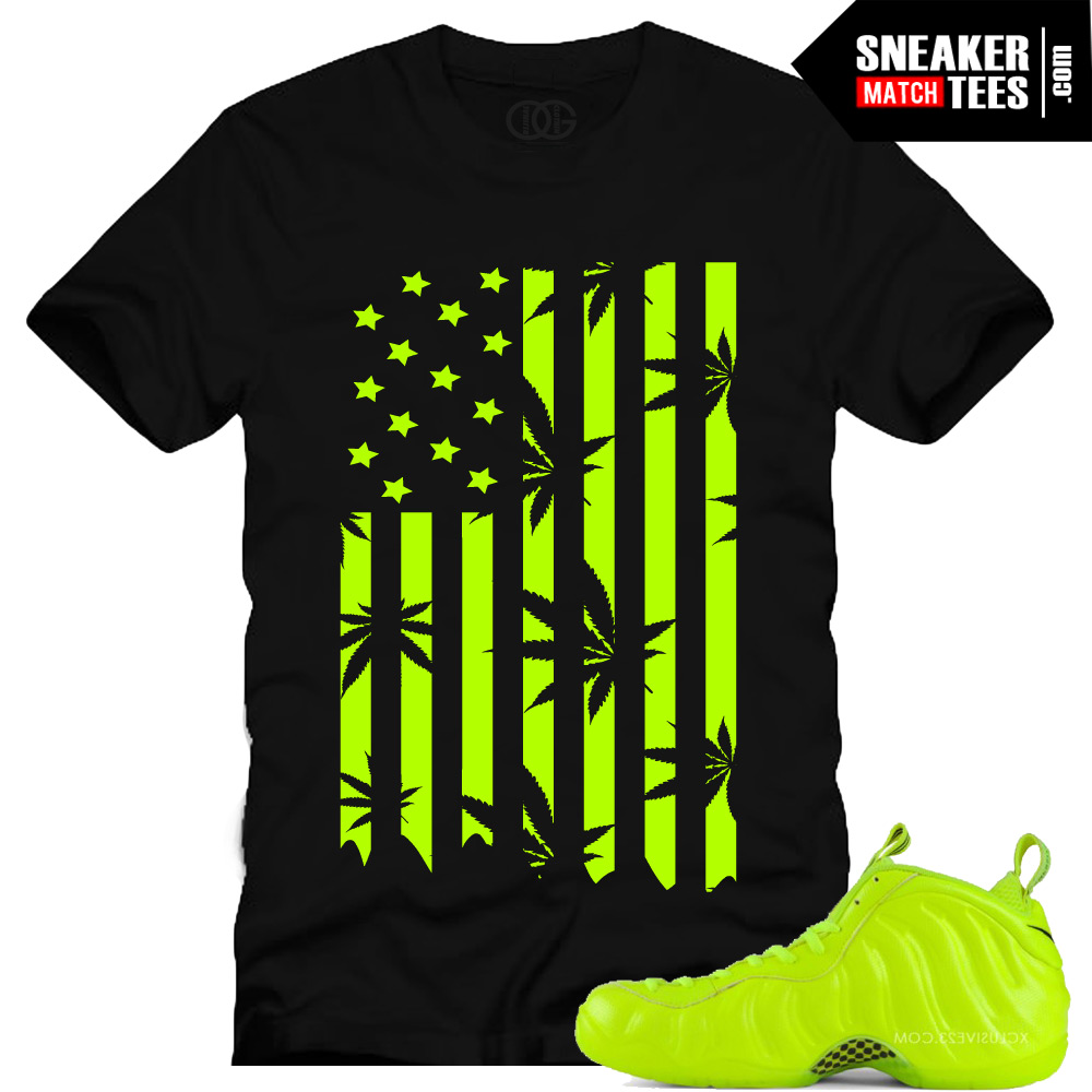 25db70ed Volt Foamposite shirts |Plant Life Sneaker Tee in Black