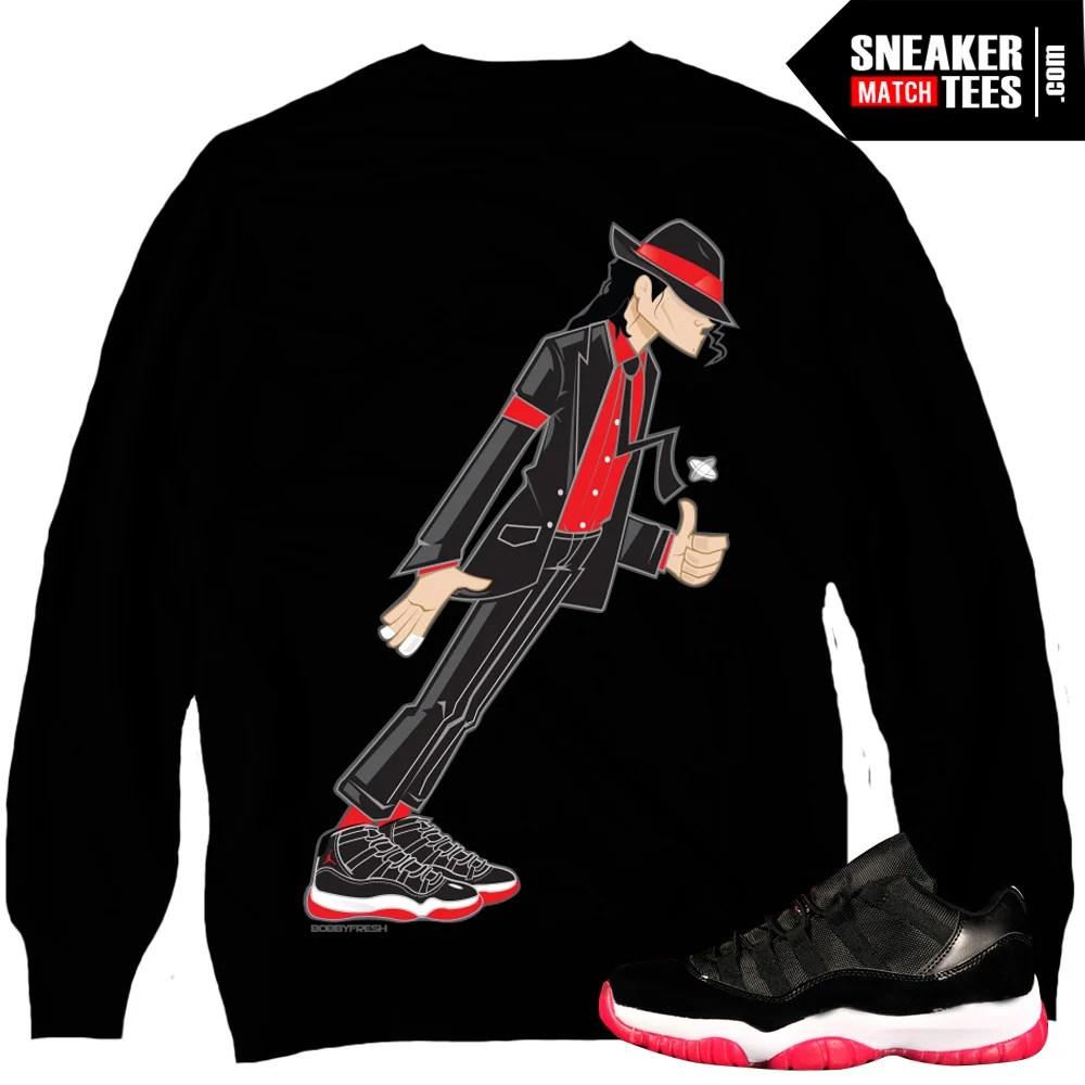 5c3a98e8ee4517 Jordan 11 Bred matching crewneck sweater sneaker tees karmaloop online  shopping streetwear. Bred 11 Lows