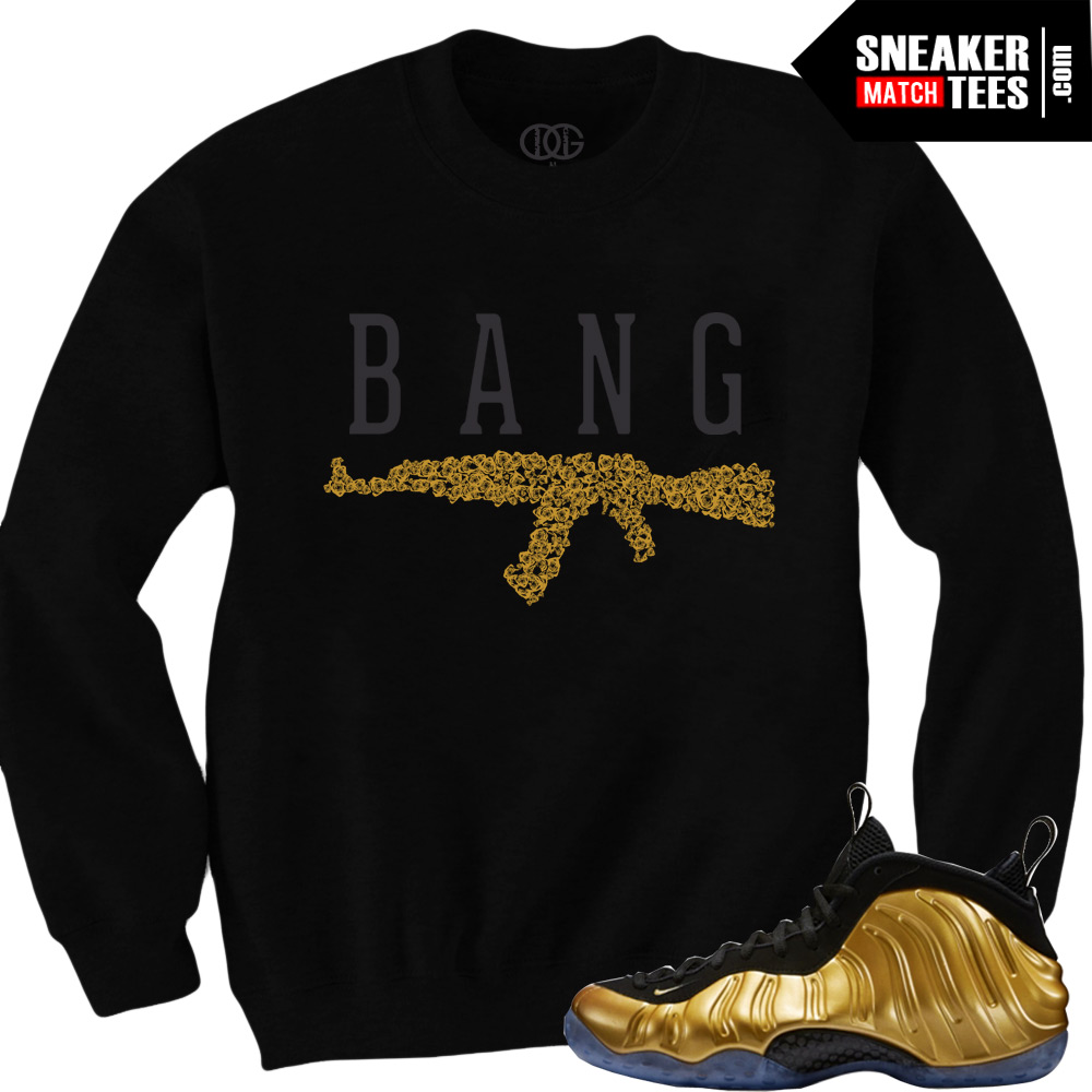 11627a3046c2f Nike Foamposite One Gold matching sneaker tees shirts