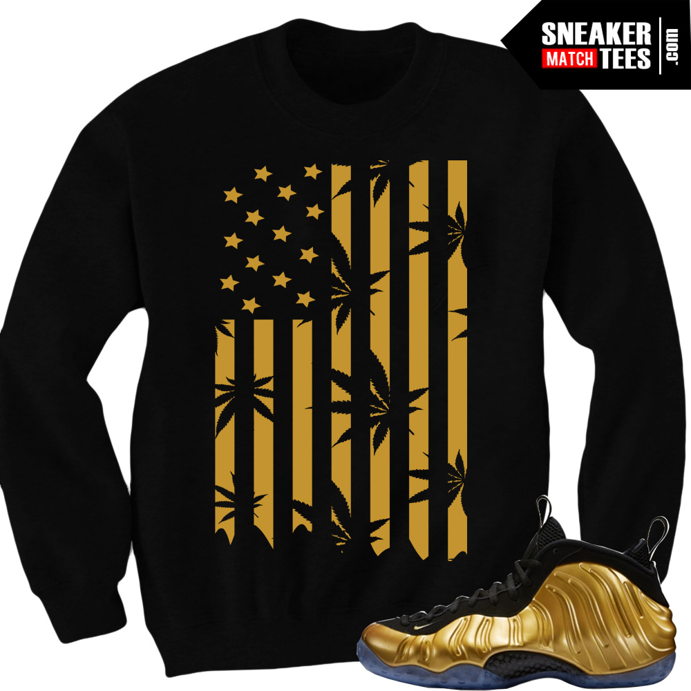 best loved 799a7 9e550 Nike Foamposite One Gold matching sneaker tees shirts  Plant Life Black  Crewneck  Streetwear Online