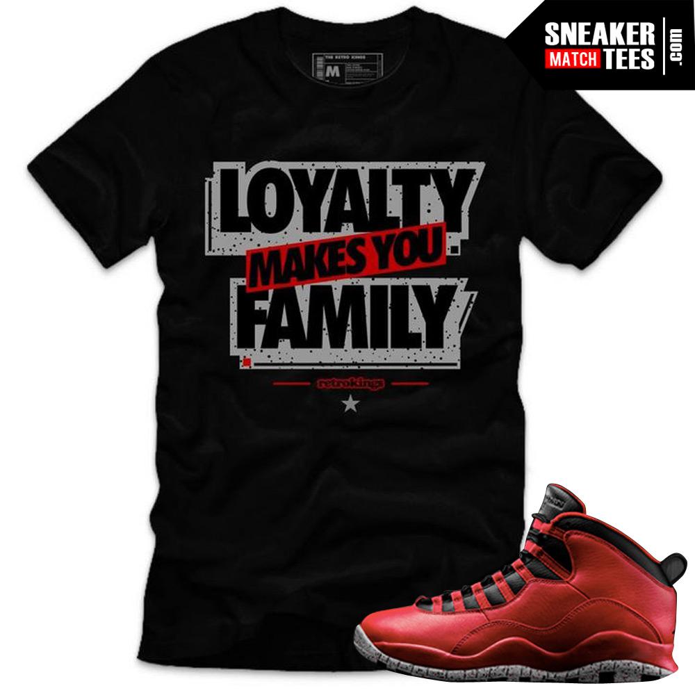 7dffb27cbb4 Bulls over Broadway 10s matching sneaker tees shirts |Loyalty Sneaker Tee  BLACK | Streetwear Online