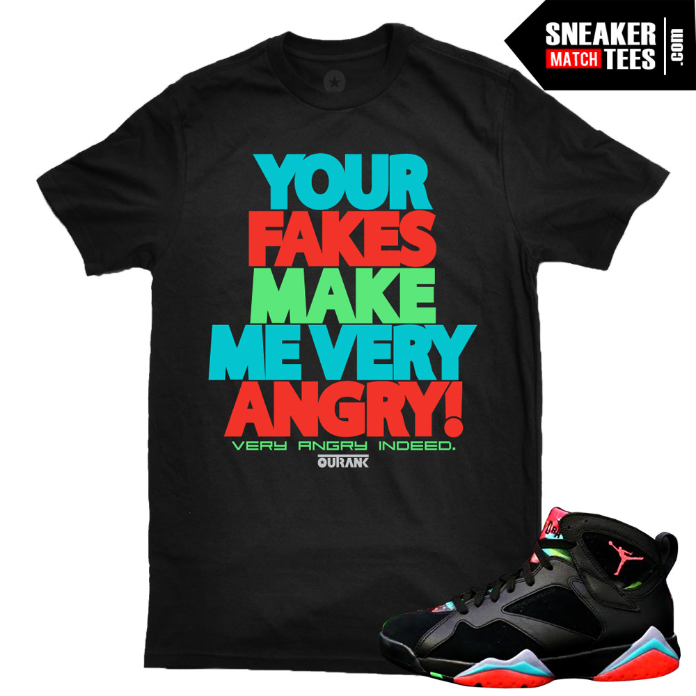 new arrival 0346b e2e12 Marvin the Martian 7s matching sneaker tees shirts  Your Fakes Sneaker Tee  Black  Streetwear Online