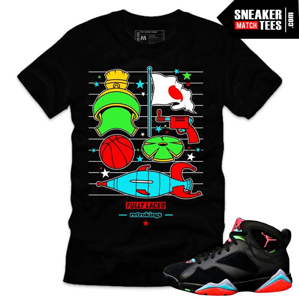 e9ad565adf2 Jordan 7 Marvin the Martian shirts sneaker tees matching marvin martian 7s  streetwear online shopping karmaloop