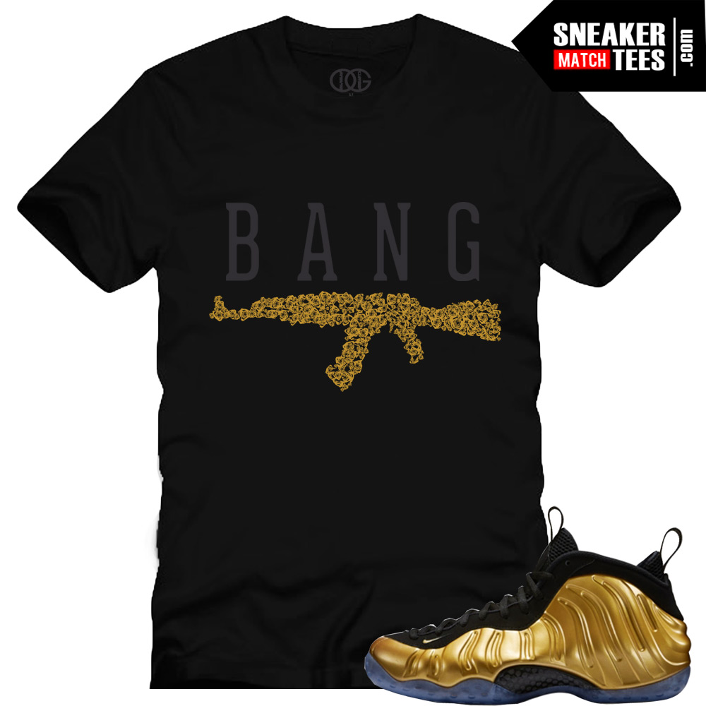 0a4b32aab3a Nike Foamposite One Gold shirts to match