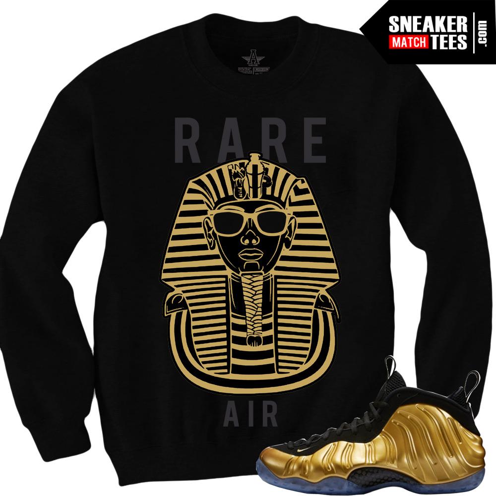 best service e6779 00f23 Nike Foamposite Gold Sneaker Tees Shirts to Match Gold Foams stteetwear  online shopping karmaloop