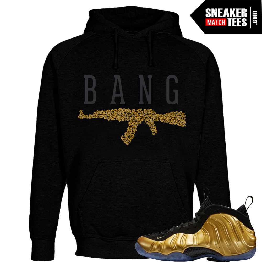 sports shoes e656a c92a2 Nike Foamposite One Gold matching sneaker tees shirts  AK ROSES Black Hoodie   Streetwear Online