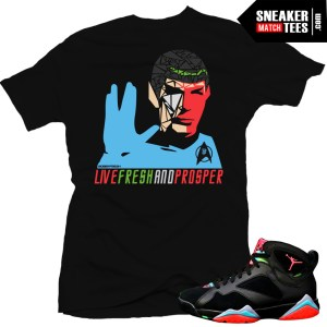 Sneaker tees matching jordan 7 Marvin the Martian streetwear online shopping karmaloop