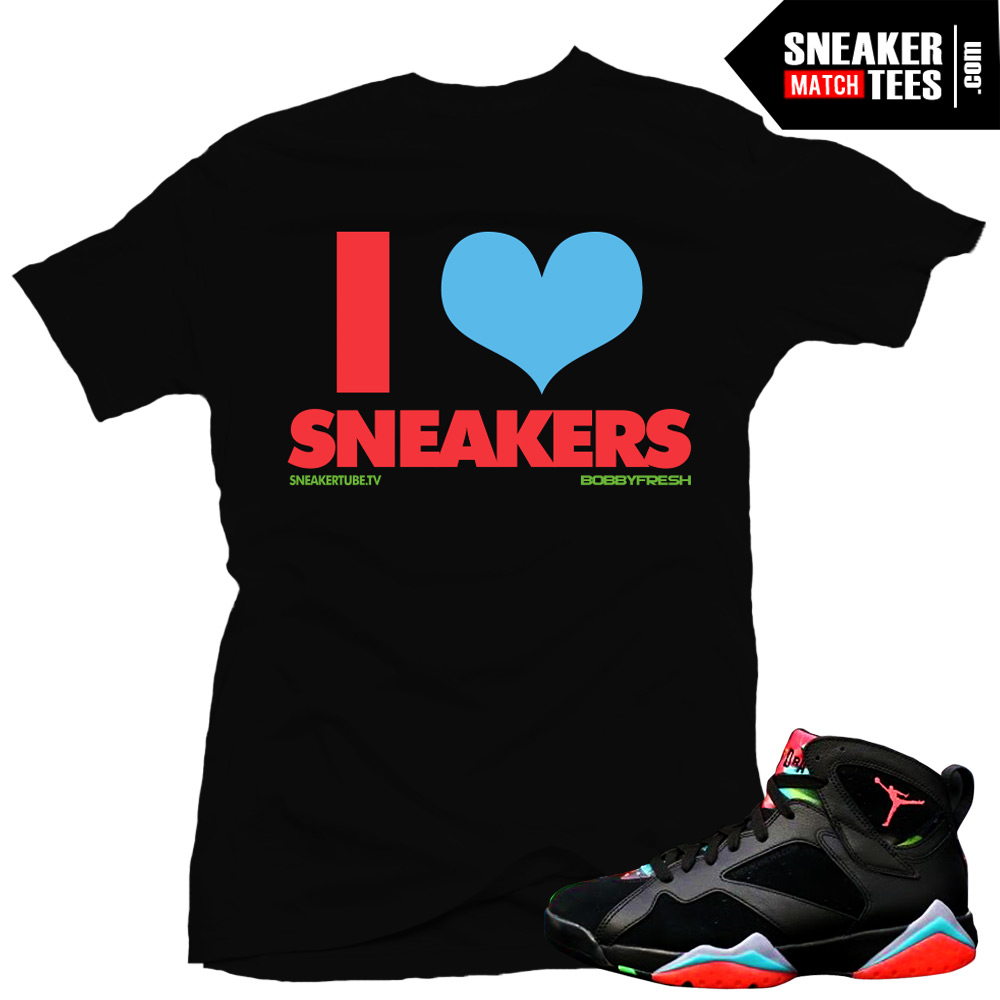 8670f320f99559 Shirt to match jordan 7 marvin the martian sneaker tees shirts to match  Marvin the Martian