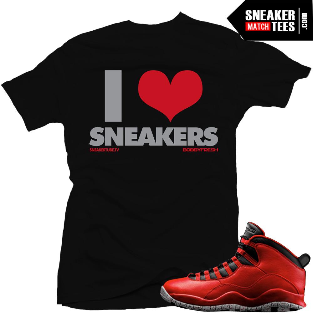9f8facae61c Shirts match Bulls over Broadway 10s sneaker tee shirts jordan 10 bulls  over broadway streetwear online