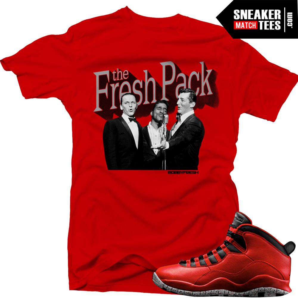 online store 8971d 09704 Bulls over Broadway 10s matching sneaker tees shirts |Fresh Pack sneaker  Tee Black | Streetwear Online