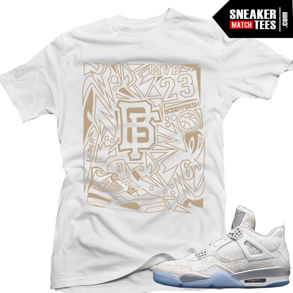 a9d89b956805 Jordan Retro 4 Laser matching shirt