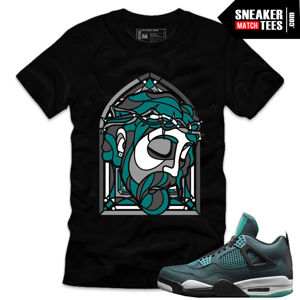 123dfa523054 Jordan 4 Teal shirts to match