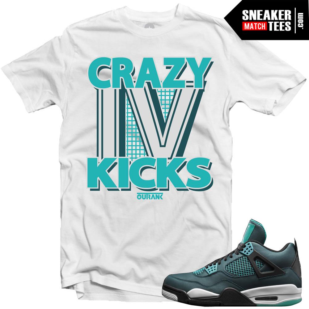 0ca82fc677b5c9 Jordan 4 Teal matching shirts jordan shirts sneaker tees Teal 4s steetwear  online shopping karmaloop 2