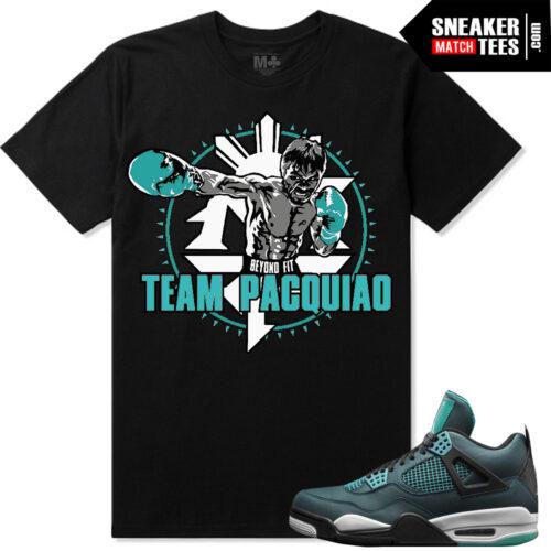 "c945a69eee0f Teal 4 s Jordan Retro matching shirt ""Team Pacman"" Sneaker tees shirt"