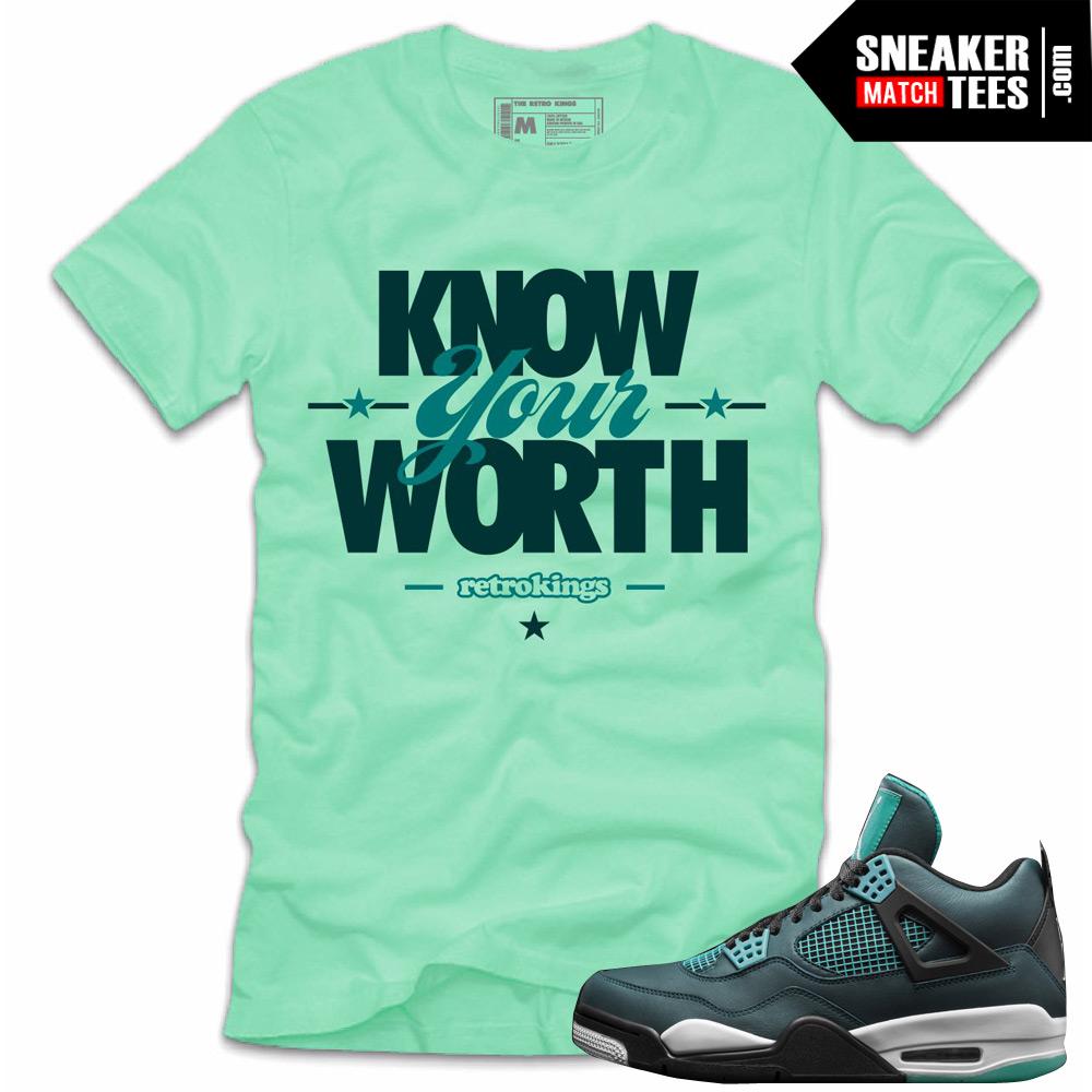 dd845f04a2896f Jordan 4 Teal shirts to match