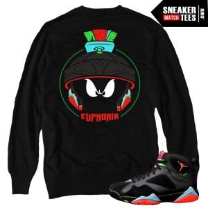 Jordan 7 Marvin the Martian match shirts crewnecks clothing sneaker tees shirts Jordan Retro 7