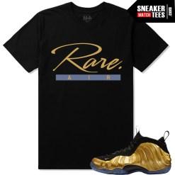 Nike Foamposite One Gold matching shirts sneaker tees shirts