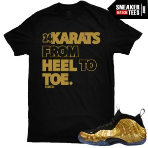 Nike Gold Foamposite One shirts sneaker tees shirts match Gold Foamposites online shopping streetwear