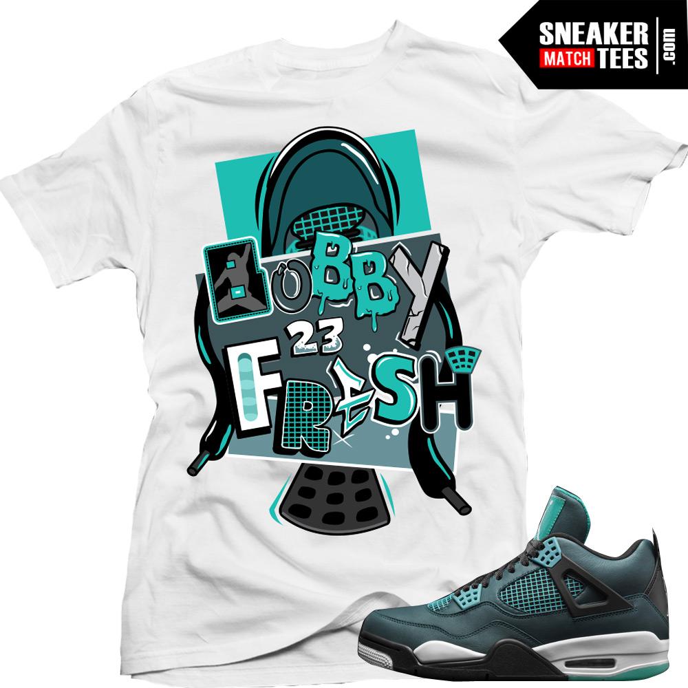 2d16d223d12e5c Teal 4s matching shirts sneaker tees