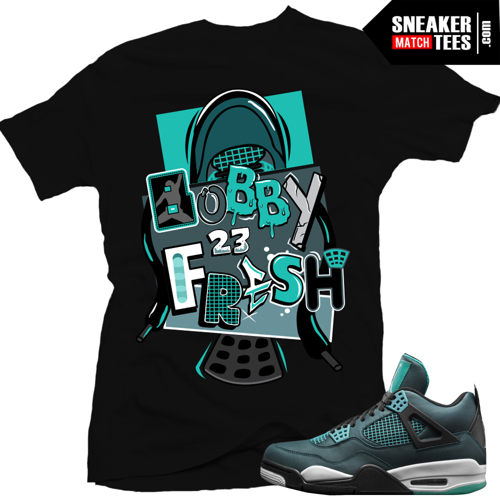 f864da4e8d6f04 shirts match Jordan 4 teal sneaker tee shirts teal 4s streetwear online  shopping karmaloop