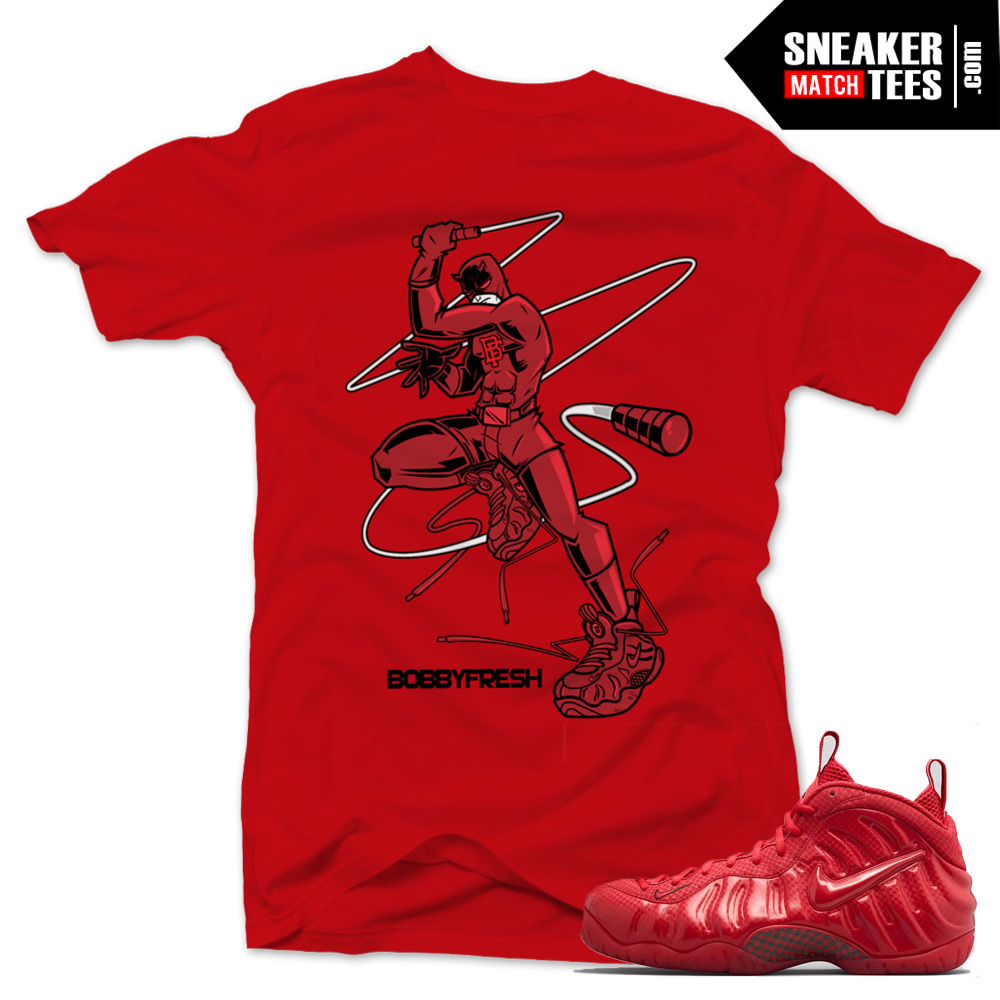 6391ce3cd139e Gym Red Foamposite shirts to match
