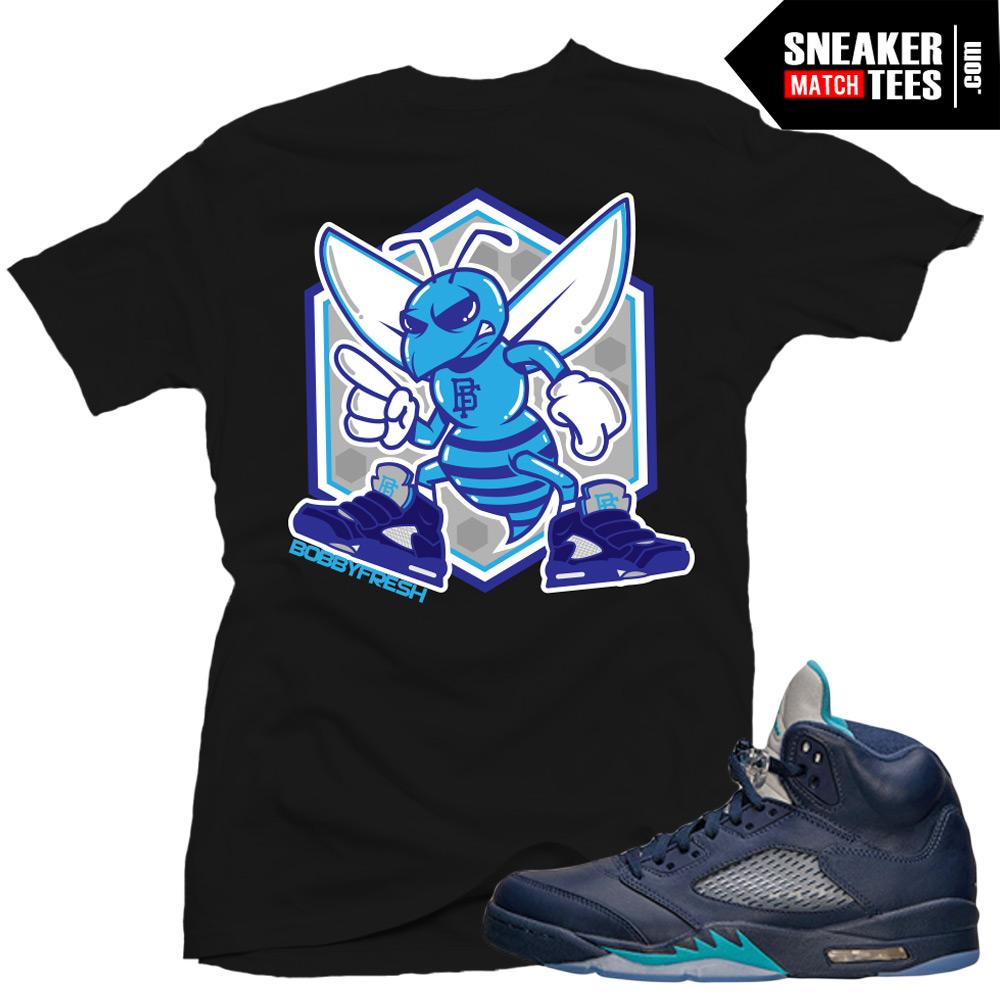 promo code f1aa0 3d5da Jordan 5 Hornets Midnight Navy shirts to match