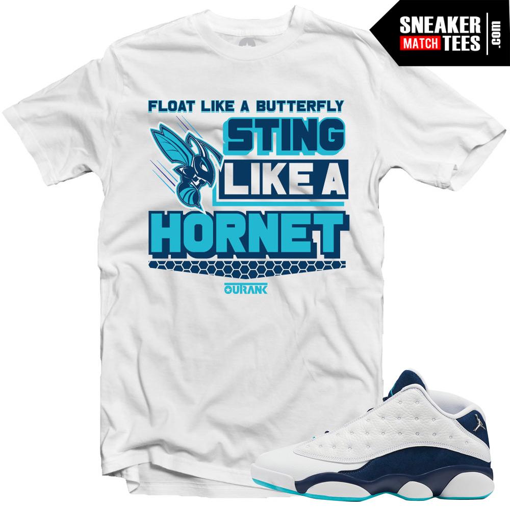 the best attitude 6dc30 e4d1f Jordan 13 Low Hornets shirts to match
