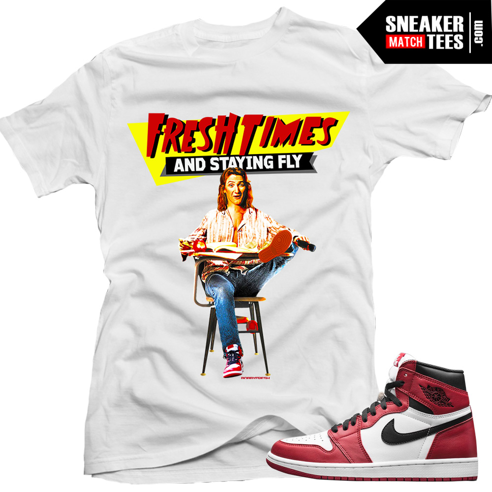 Chicago 1 shirt to match Jordan 1 Chicago streetwear online karmaloop