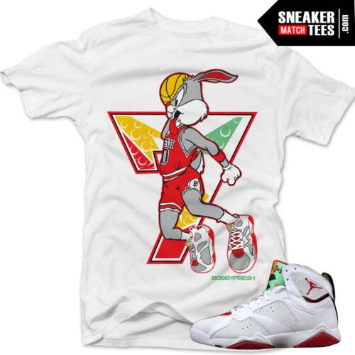 b70f0dd4fa5417 Jordan 7 Hare shirts to match