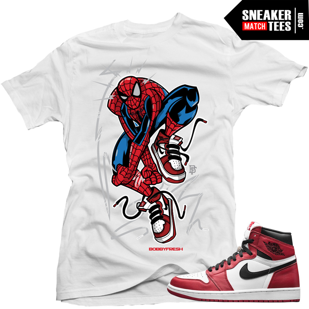Jordan 1 Chicago matching shirts sneaker tees streetwear online shopping
