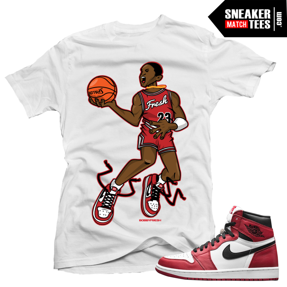 Jordan 1 Chicago shirt to match