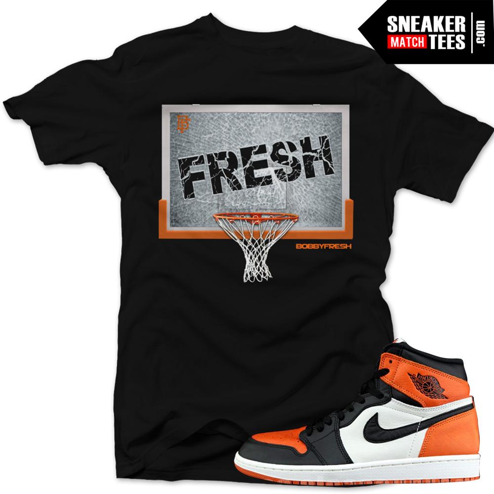 "17d2c5c2abcb80 Jordan 1 Shattered Backboard shirts to match ""Shattered"" Black Sneaker Tees  shirt"