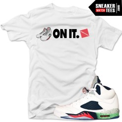 Jordan 5 Poison Green Shirts to match